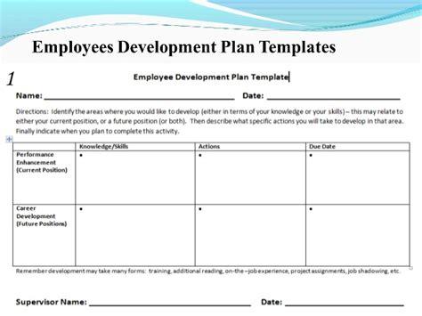 sle employee development plan template employee appraisal