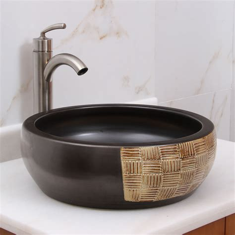 Black Ceramic Sink Prices Elimax S 2004 Black And Gold Brown Porcelain Ceramic