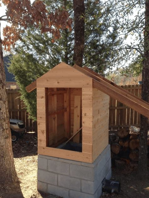 homemade smokehouse plans   build easily