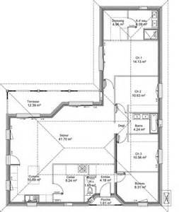 plan maison en l avec etage