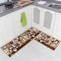 kitchen mat rubber backing doormat runner rug set coffee design ebay