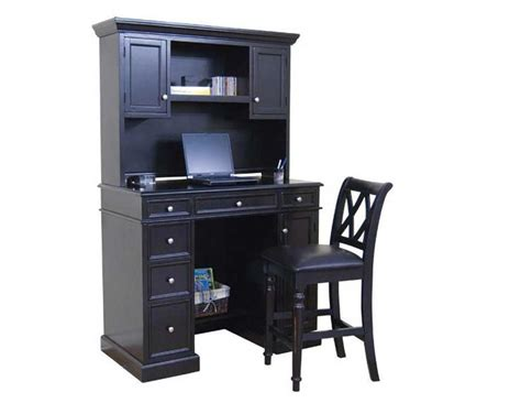 Small Black Desk With Hutch Computer Desk Height For A Comfortable Use