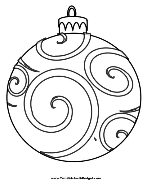 christmas ornaments to print out three free coloring printables