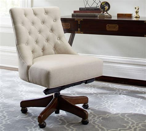 Upholstered Office Chair Design Ideas Tufted Swivel Desk Chair Pottery Barn Au