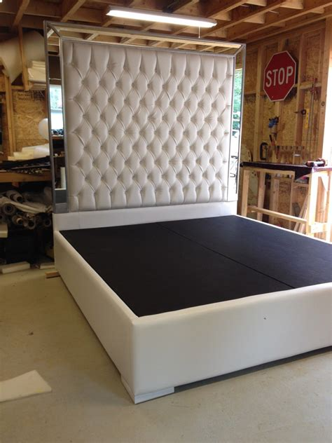 tufted king size bed white faux leather king size platform bed queen size bed