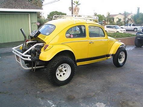 yellow baja bug sell used 1961 vw baja bug 1835 dual carbs irs trans