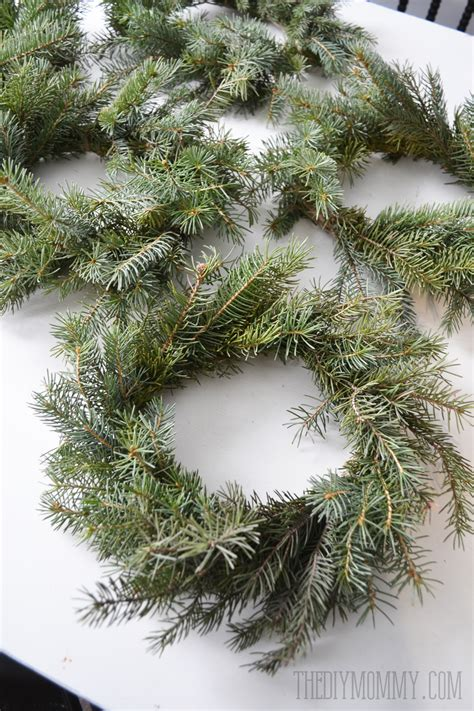 how to make a wreath from branches make real evergreen wreaths the diy