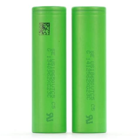 Sony Vtc5 18650 3 7v 2600 Mah 30a Authentic Original 2 pack sony imr 18650 vtc5 2600mah 30a ion batteries