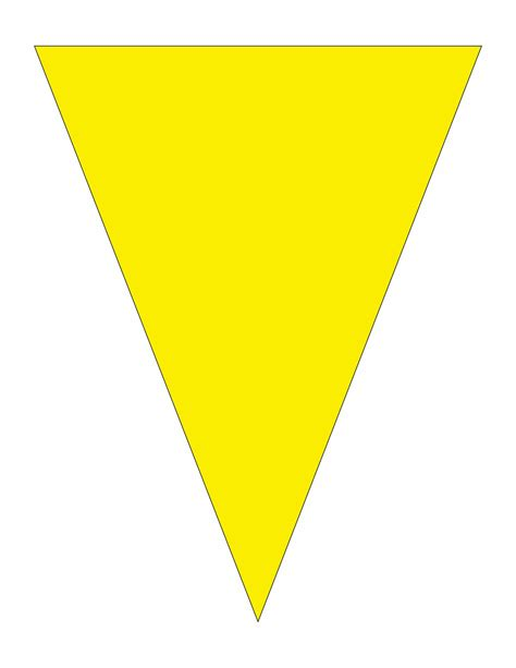 printable yellow banner pennant cliparts the cliparts