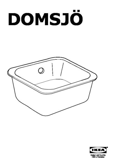 Evier Domsjo 1 Bac by Domsj 214 201 Vier 224 Encastrer 1 Bac Blanc Ikea Ikeapedia