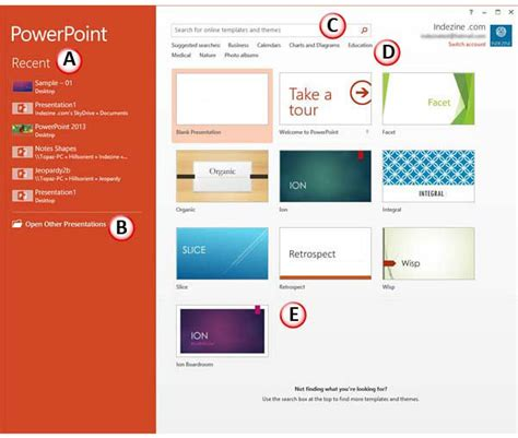 how to create a powerpoint template 2013 presentation gallery in powerpoint 2013 powerpoint tutorials