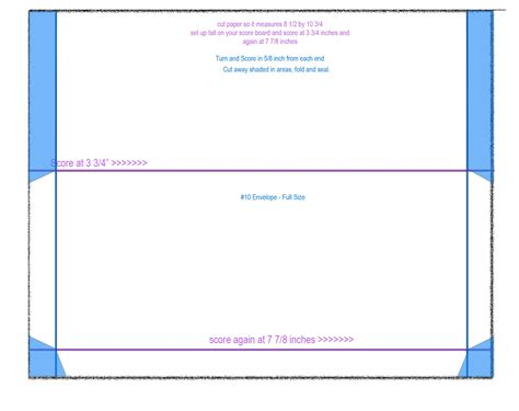number 10 envelope template 10 envelope size template pictures to pin on