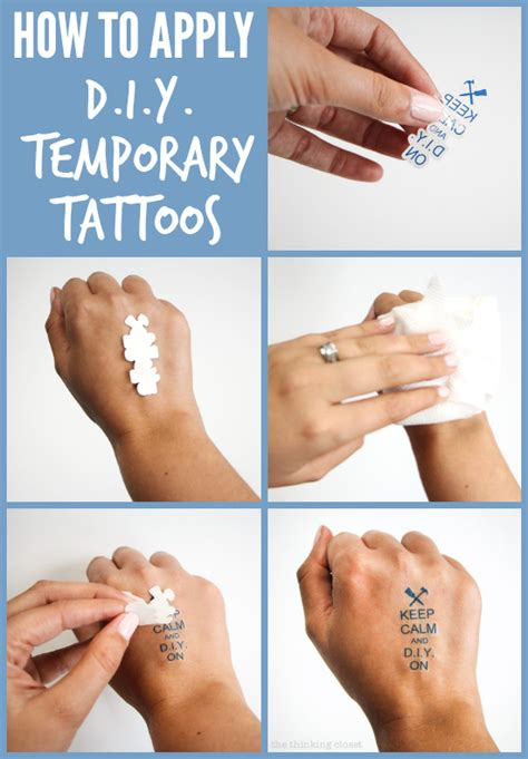 how to do a fake tattoo my business card swag temporary tattoos the
