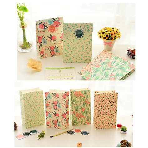 Flowers Craft Paper Best Gift Bag Candy Food Gift Bags