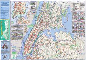 New York Bike Map by Pics Photos Nyc Bike Map