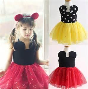 2015 baby girls dress cute minnie mouse dresses kids toddler skirt