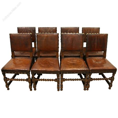 set of 8 jacobean style oak dining chairs antiques atlas