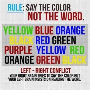 say the color not the word say the color not the word optical illusion will