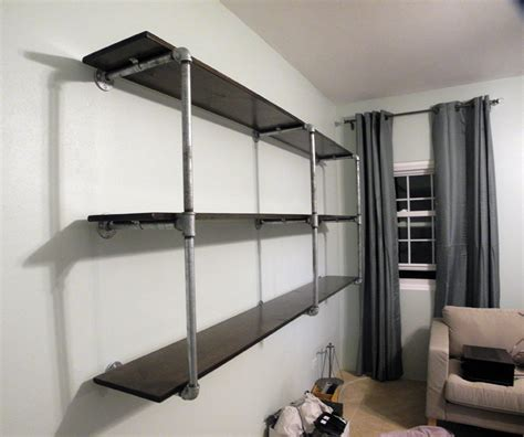 Galvanized Pipe Shelf by 301 Moved Permanently