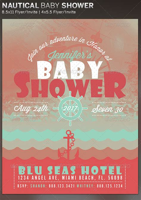 Baby Shower Flyers by 21 Baby Shower Flyer Templates Psd Ai Illustrator