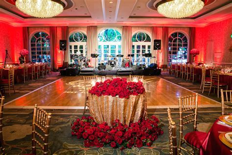 Romantic Red and Gold Wedding Featured on Inside Weddings