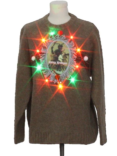 Sweater Led by Mens Multicolor Lightup Krus Wool