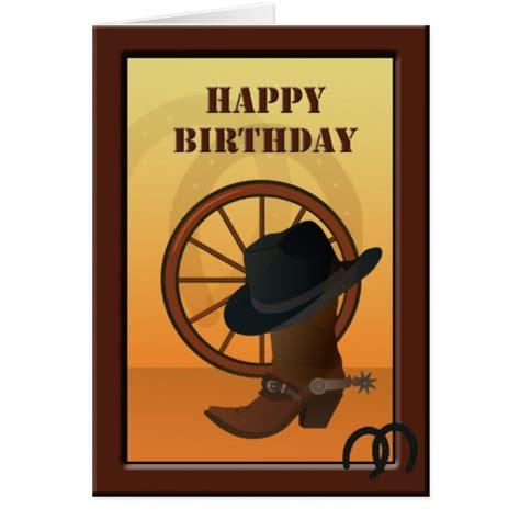 Western Birthday Cards Western Cowboy Custom Birthday Card Zazzle