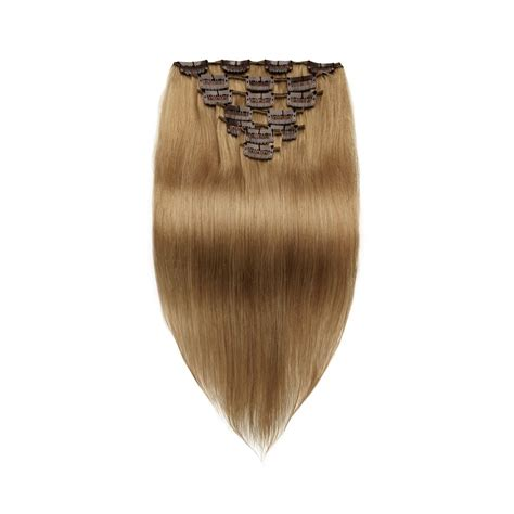 light cylinder hair extensions 7pcs straight clip in remy hair extensions 8 light brown
