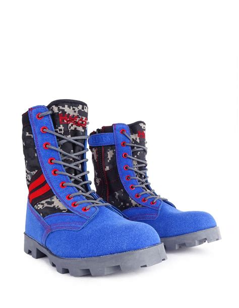 colored boots boots grey blue army color