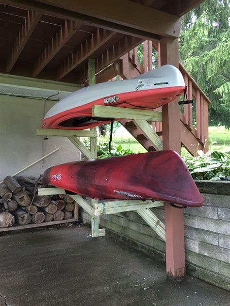 kayak rack  built   deck