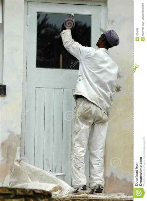 Painting Tender In Mp by Painter At Work Royalty Free Stock Images Image 1908689