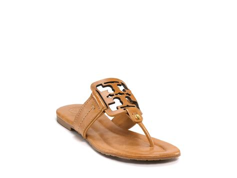 burch brown sandals burch square miller flat sandals in brown royal