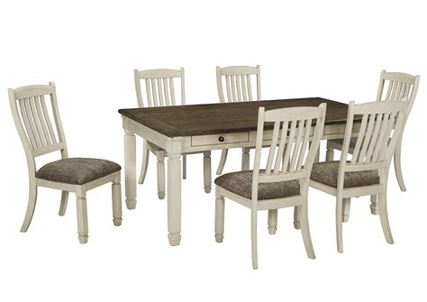 Wine Country Furniture Bolanburg Antique White Rectangular White Chairs For Dining Table
