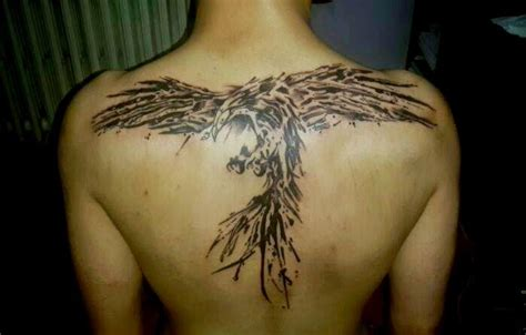 upper back angry phoenix tattoo design tattooshunter com