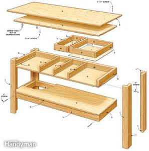 Compact Reloading Bench 187 Workbench Construction Plansfreewoodplans
