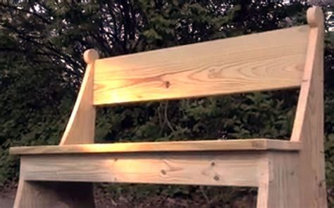 make garden bench how to make a lovely garden bench this spring