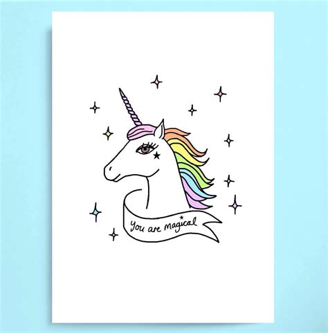 unicorn valentines day cards you are magical unicorn valentines day card