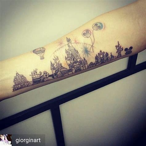 disneyland tattoos best 25 skyline ideas on nyc skyline