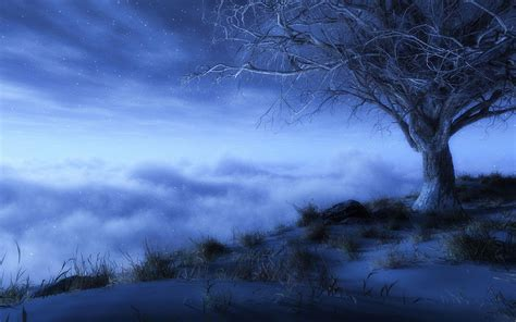 wallpaper blue landscape beautiful blue color of the natural scenery hd wallpapers