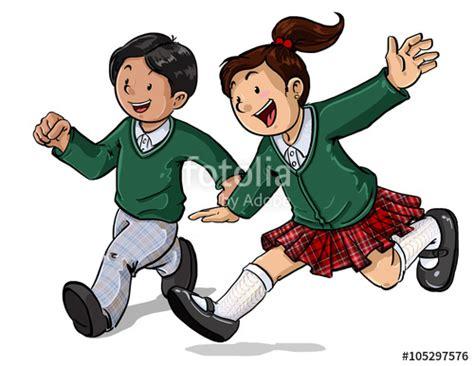 imagenes grupo escolar quot grupo de ni 241 os con uniforme escolar divirti 233 ndose jugando