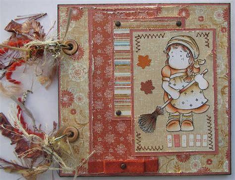 How To Make A Handmade Scrapbook Album - ooak handmade autumn garden broom scrapbook photo
