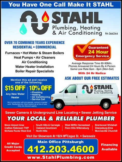 Plumbing Air Conditioning by Stahl Plumbing Heating Air Conditioning Swissvale Pa