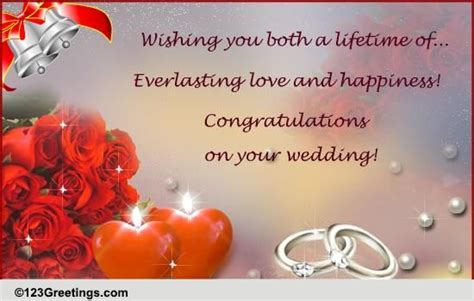 Wedding Greetings by Wedding Bells Ringing Free Congratulations Ecards