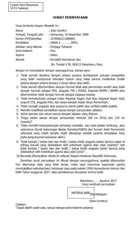 Contoh Surat Lamaran Kerja Ketikan Komputer by Kumpulan Surat Pernyataan Kerja Kesanggupan Belum