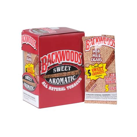 Tembakau Flavor Sweet Aromatic backwoods sweet aromatic cigars 8 packs of 5 cigars tobacco products tobaccostock