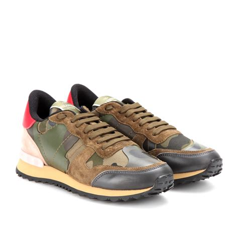 s valentino sneakers valentino camouflage sneakers in green lyst