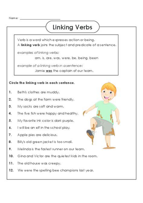 Linking Verbs Worksheet by All Worksheets 187 Linking Verb Worksheets Printable