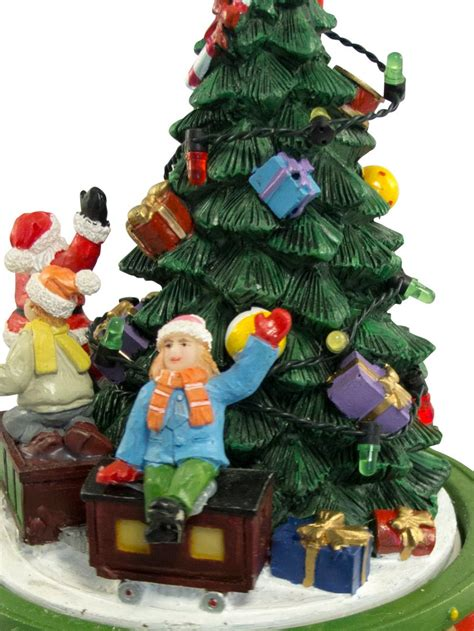 spinning tree around santa toy santa on rotating around tree wind up ornament 17cm ornaments the