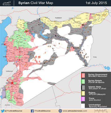 battle map syrian civil war july 2015