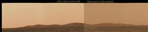 what is the real color of the sky nasa altering the true colors of mars